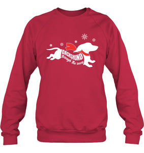 Dachshund Through The Snow Shirt - Dog Shirt Sweatshirt