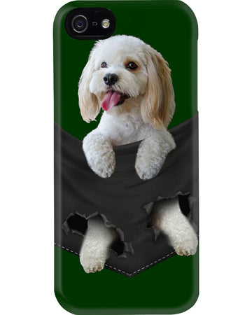 Cockapoo In Middle Pocket For Dog Lovers Custom Design Phone case