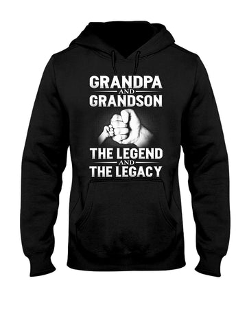 Grandpa And Grandson The Legend And The Legacy Hoodie