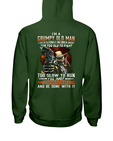 I'm A January Grumpy Old Man From California Hoodie