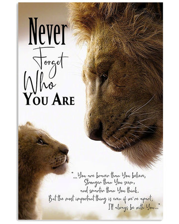 Lion Father To Son Family Gift Vertical Poster