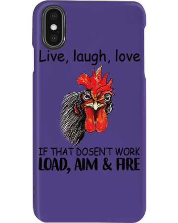 Live Laugh Love If That Doesn't Work Load, Aim And Are Phone case