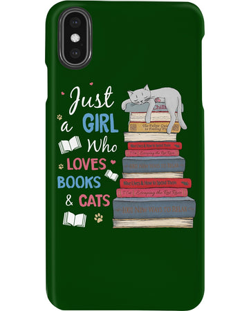 Just A Girl Who Loves Books And Cats Phone case