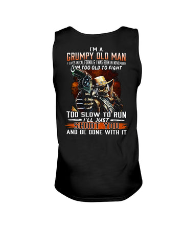 I'm A November  Grumpy Old Man From California Birthday Gift Unisex Tank Top