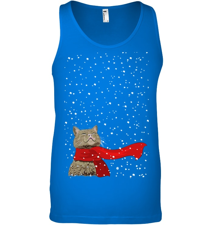 Cat Snow Christmas Gift For Cat Lovers Unisex Tank Top