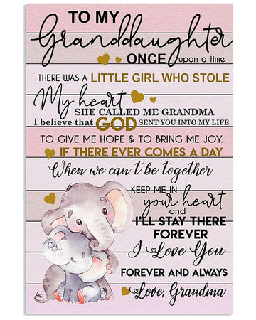 To My Granddaughter I Love You Gift For Granddaughter Vertical Poster