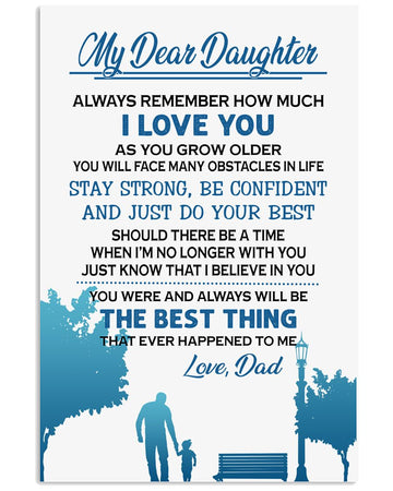 Gift To My Dear Daughter From Dad Vertical Poster