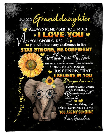 Grandma To Granddaughter Always Remember How Much I Love You Fleece Blanket