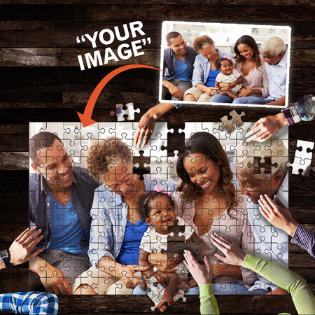 Custom Personalized Photo Jigsaw Puzzles 150 Pieces For Kids Adults