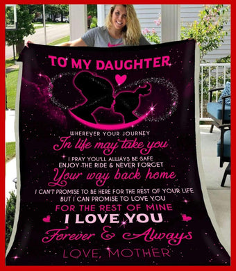 BLANKET - Daughter (Mother) - Wherever your journey in life may take you - yenyenstore