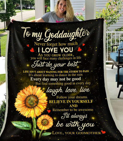 PP - BLANKET - Goddaughter - I'll always be with you - yenyenstore