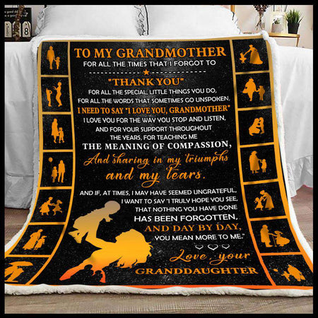 Blanket - To My Grandmother - Thank You - yenyenstore