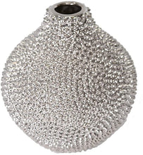 Load image into Gallery viewer, Silver Spiked Ceramic Vase