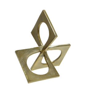 Metal Linked Square Decor