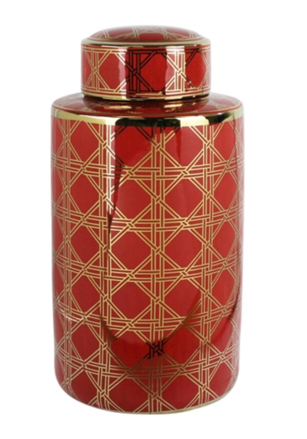 Decorative Ceramic Covered Jar