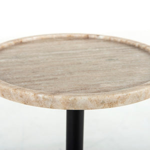 Viola Accent Table - Antique White Marble