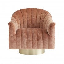 Load image into Gallery viewer, Springsteen Chair Dusty Rose Velvet Swivel