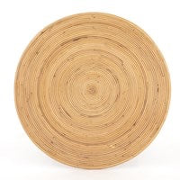 Load image into Gallery viewer, Clover Round Coffee Table - Honey Rattan