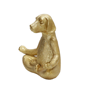 Polyresin Yoga Dog Sculpture