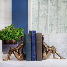 Load image into Gallery viewer, Bronze Lady Bookend