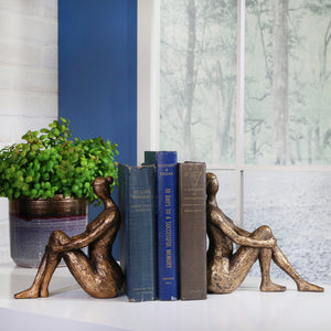 Bronze Lady Bookend