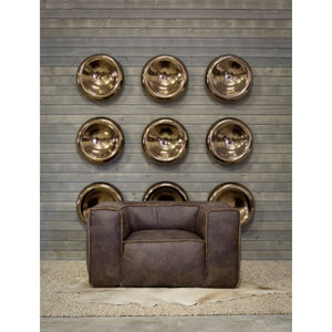 Bronze Ceramic Wall Hanging Disk
