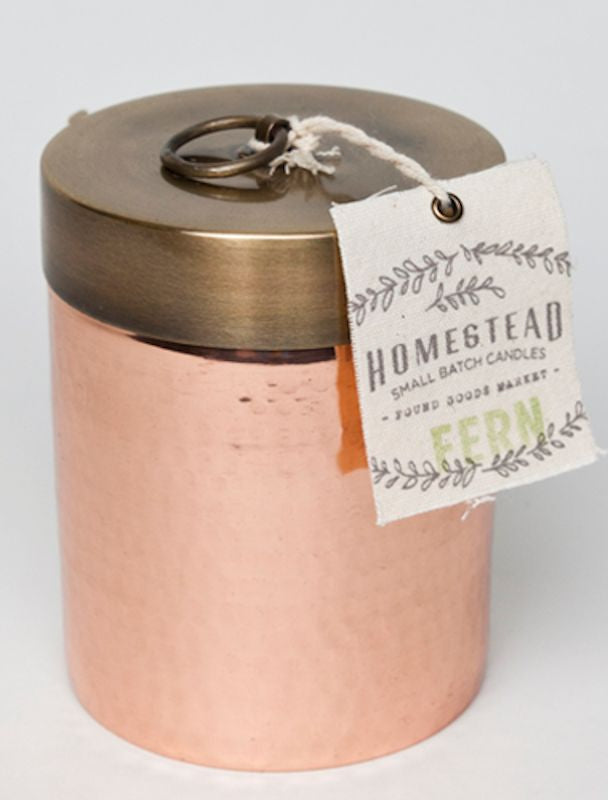 Fern Hammered Canister Candle