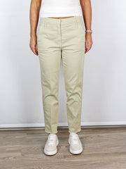 Luisa Cerano Side Stripe Beige Trousers