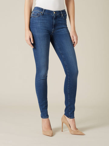 7 For All Mankind High Waist Skinny Jeans Luxe Lovestory