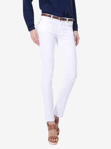 7 For All Mankind Pyper Skinny Raw Hem Jeans White
