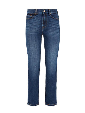 7 For All Mankind The Straight Crop Jeans Soho
