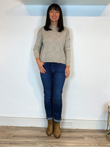 7 For All Mankind The Straight Crop Jeans Soho styled by Leonie