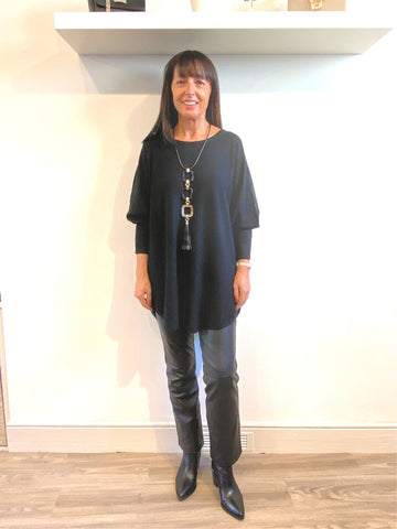 ACL Slouchy Batwing Knit Black