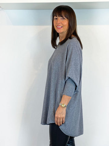 ACL Slouchy Batwing Knit Mid Grey