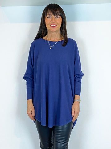 ACL Slouchy Batwing Knit Navy