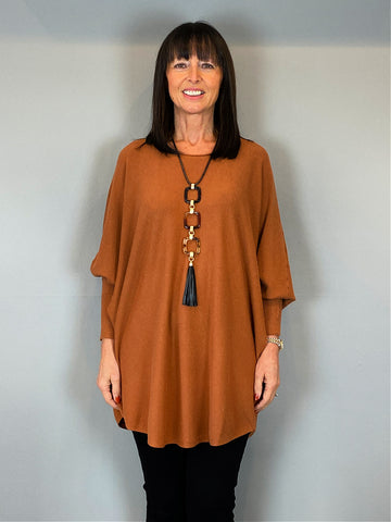ACL Slouchy Batwing Knit Rust