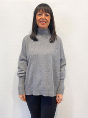 ACL Turtle Neck Boxy Knit Grey