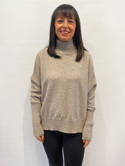ACL Turtle Neck Boxy Knit Taupe