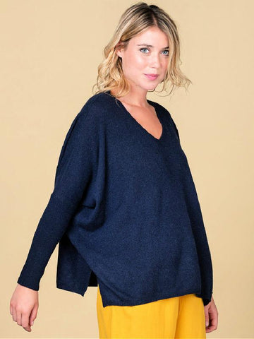 Absolut Cashmere Camille Oversized Sweater Navy