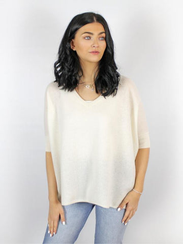 Absolut Cashmere Kate Oversized Sweater Cream