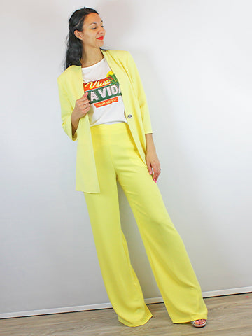 Access Fashion Wide Leg Trouser Yellow