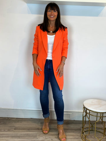 Access orange statement jacket