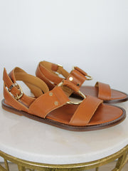 Alpe Tan Leather Sandals