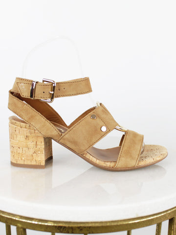 Alpe Tan Suede Ring Heeled Sandals