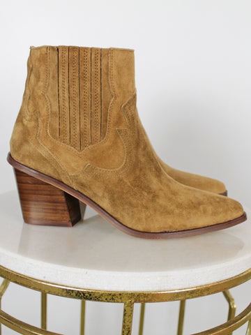 Alpe Western Ankle Boots Tan