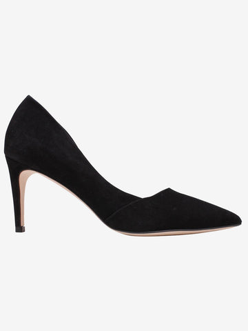 By Malene Birger Black Mid Heel Court Shoe