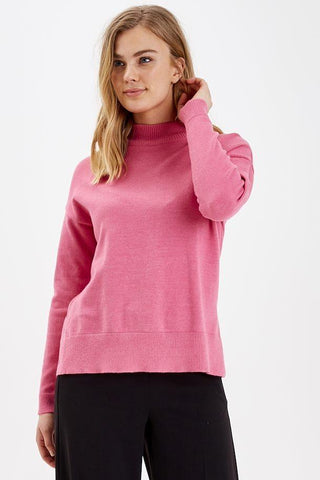 B Young ByNonina Turtle Neck Jumper Pink