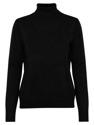 B Young ByPimba Roll Neck Black