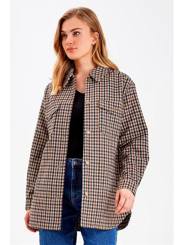 B Young Byaston Check Jacket