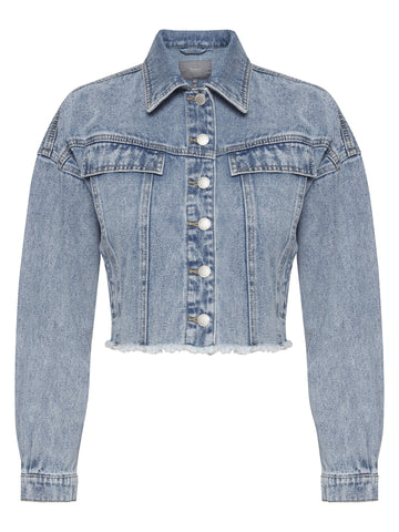 B Young cropped denim jacket